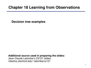 Chapter 18 Learning from Observations