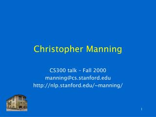 Christopher Manning