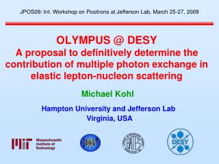 Hampton University and Jefferson Lab  Virginia, USA