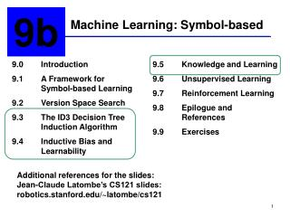 Machine Learning: Symbol-based