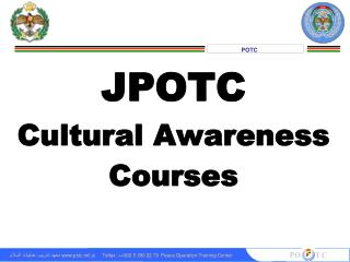 JPOTC Cultural Awareness Courses