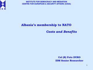 Albania's membership to NATO
