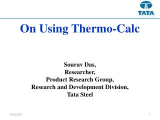 On Using Thermo-Calc