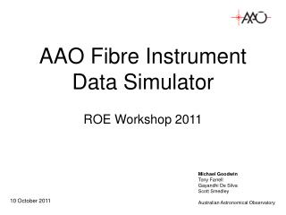 AAO Fibre Instrument Data Simulator