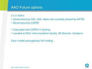 AAO Future options