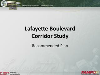 Lafayette Boulevard Corridor Study