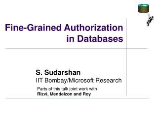 Fine-Grained Authorization in Databases