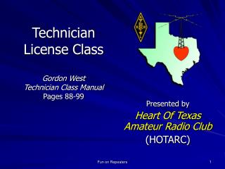 Technician License Class Gordon West  Technician Class Manual Pages 88-99