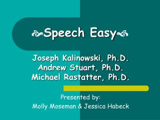  Speech Easy 
