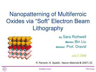 by  Sara Rothwell Mentor : Bin Liu Advisor:  Prof. Dravid July 2, 2008