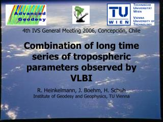 Combination of long time series of tropospheric parameters observed by VLBI