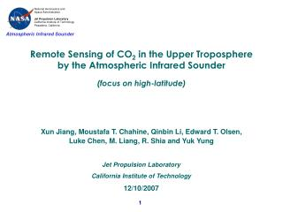 Remote Sensing of CO 2  in the Upper Troposphere by the Atmospheric Infrared Sounder