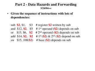 Part 2 - Data Hazards and Forwarding 3