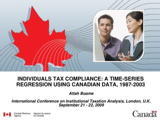 INDIVIDUALS TAX COMPLIANCE: A TIME-SERIES REGRESSION USING CANADIAN DATA, 1987-2003