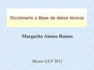 Margarita Alonso Ramos Master LUP  2012