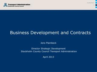 Business Development and Contracts