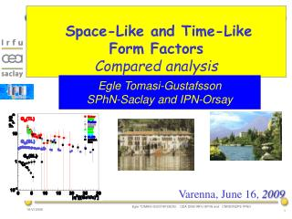 Space-Like and Time-Like Form Factors  Compared analysis