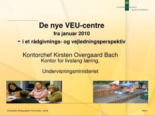 De nye VEU-centre fra januar 2010 -  i et rådgivnings- og vejledningsperspektiv