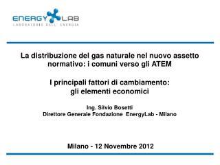 La distribuzione del gas naturale nel nuovo assetto normativo: i comuni verso gli ATEM