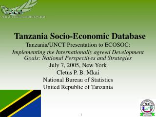 Tanzania Socio-Economic Database