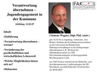 Clemens Wagner, Dipl. Päd. (univ.)