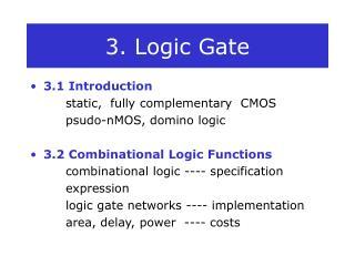 3. Logic Gate