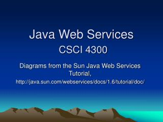 Java Web Services CSCI 4300