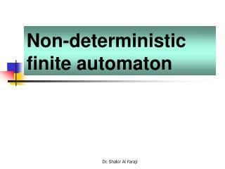 Non-deterministic finite automaton