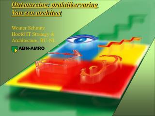 Outsourcing: praktijkervaring Van een architect Wouter Schmitz Hoofd IT Strategy &