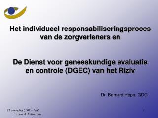 Dr. Bernard Hepp, GDG