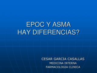EPOC Y ASMA HAY DIFERENCIAS?