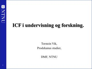 ICF i undervisning og forskning.