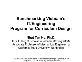 Benchmarking Vietnam's IT/Engineering Program for Curriculum Design