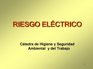 RIESGO  EL�CTRICO