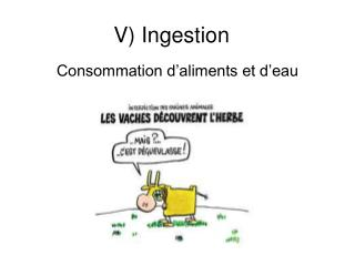 V) Ingestion