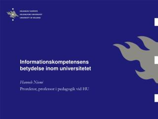 Informationskompetensens betydelse inom universitetet