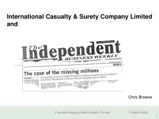 International Casualty & Surety Company Limited and