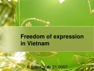 Freedom of expression  in Vietnam