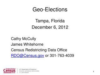 Geo-Elections