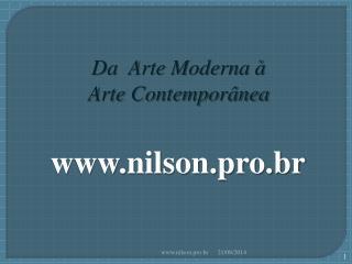 Da  Arte Moderna à  Arte Contemporânea