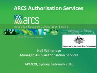 ARCS Authorisation Services