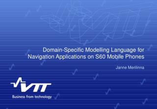Domain-Specific Modelling Language for Navigation Applications on S60 Mobile Phones