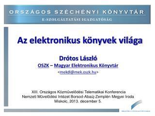 Az elektronikus könyvek világa