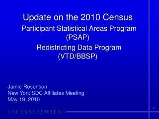 Jamie Rosenson New York SDC Affiliates Meeting May 19, 2010