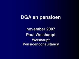 DGA en pensioen