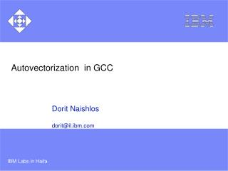 Autovectorization  in GCC