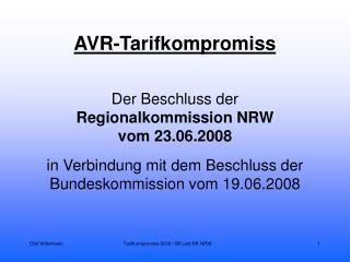 AVR-Tarifkompromiss