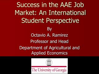 Success in the AAE Job Market: An International Student Perspective