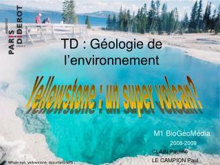 TD : Géologie de l'environnement