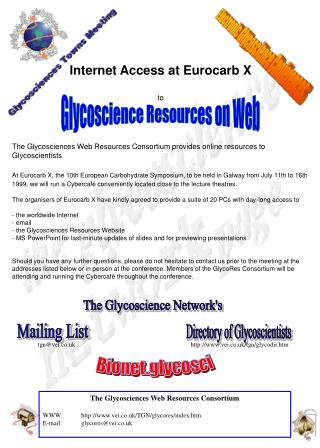 Glycoscience Resources on Web